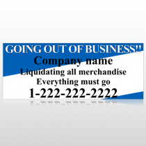 Going Out Sale 11 Site Sign