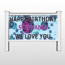 "Birthday Dots 16 48""H x 96""W Site Sign"
