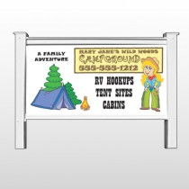 """Campground 144 48""""H x 96""""W Site Sign"""