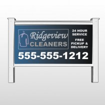 "Dry Cleaners 24-48""H x 96""W Site Sign"