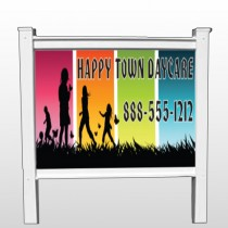 "Happy Town 181 48""H x 96""W Site Sign"