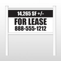 "Lease 458 48""H x 96""W Site Sign"
