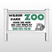 """Zoo 127 48""""H x 96""""W Site Sign"""
