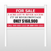 "River 440 48""H x 96""W Site Sign"