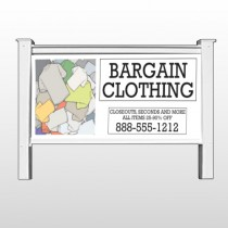 "Bargain Bin 532 48""H x 96""W Site Sign"