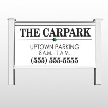 """Car Park 122 48""""H x 96""""W Site Sign"""