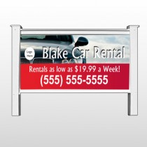 "Car Rental 112 48""H x 96""W Site Sign"