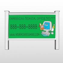 "Cartoon Computer 431 48""H x 96""W Site Sign"
