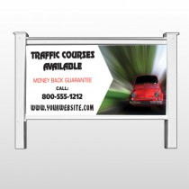 "Car Traffic 153 48""H x 96""W Site Sign"