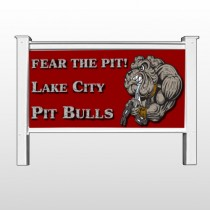 "Fear Dog Mascot 51 48""H x 96""W Site Sign"