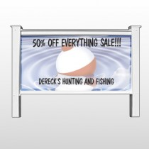 """Fishing Bobber 410 48""""H x 96""""W Site Sign"""