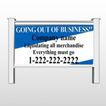 "Going Out Sale 11 48""H x 96""W Site Sign"