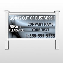 "Gray Going Out of Business Sale 12 48""H  x 96""W Site Sign"
