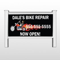 """Harley Flames 108 48""""H x 96""""W Site Sign"""