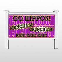 "Hippos 45 48""H x 96""W Site Sign"