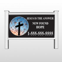 "New Found Hope 01 48""x 96"" Site Sign"