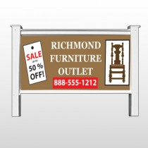 "Outlet Chair 527 48""H x 96""W Site Sign"