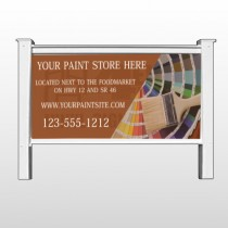"""Paint Brushes 256 48""""H x 96""""W Site Sign"""