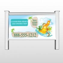 "Palm Island Pool 534 48""H x 96""W Site Sign"