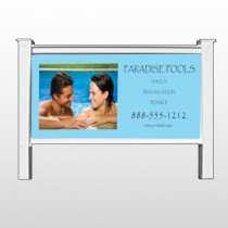 """Paradise Pool 529 48""""H x 96""""W Site Sign"""