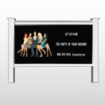"Party Planning 519 48""H x 96""W Site Sign"