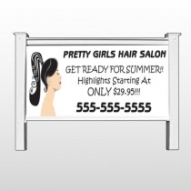 "Pretty Girl Hair 290 48""H x 96""W Site Sign"