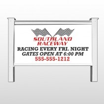 "Racetrack 31 48""H x 96""W Site Sign"