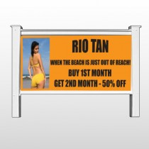 "Rio Tan Beach 489 48""H x 96""W Site Sign"