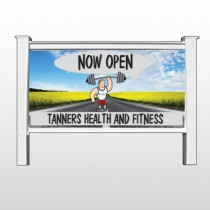 """Road Workout 407 48""""H x 96""""W Site Sign"""