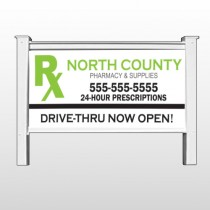 "RX North County 105 - 48"" H x 96""W Site Sign"
