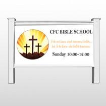 "Shining Cross 161 48""H x 96""W Site Sign"