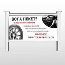 "Steering Wheel 154 48""H x 96""W Site Sign"