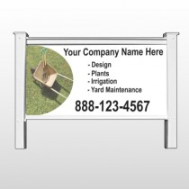 "Wheel Barrow 261 48""H x 96""W Site Sign"