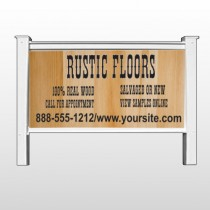 "Wood Panel 248 48""H x 96""W Site Sign"