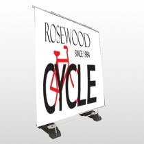 Bike Shop 33 Exterior Pocket Banner Stand