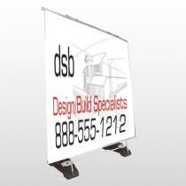 Builder 35 Exterior Pocket Banner Stand
