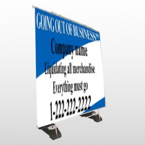 Going Out Sale 11 Exterior Pocket Banner Stand