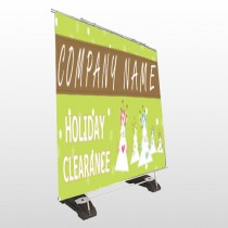 Holiday Clearance 13 Exterior Pocket  Banner Stand