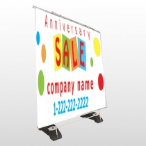 Square Circle Sale 15 Exterior Pocket Banner Stand