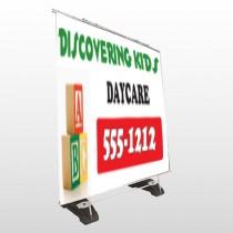 Toy Blocks 183 Exterior Pocket Banner Stand