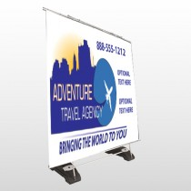 Travel Agent 28 Exterior Pocket Banner Stand