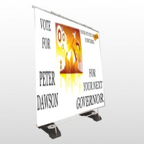 Vote City Sign Governor 267 Exterior Pocket Banner Stand