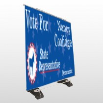 Vote Donkey Demo 265 Exterior Pocket Banner Stand