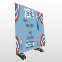 Vote County Commissioner 259 Exterior Pocket Banner Stand