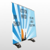 Vote Mayor City 263 Exterior Pocket Banner Stand