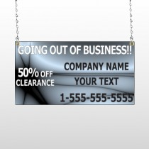 Gray Going Out of Business Sale 12 Window Sign