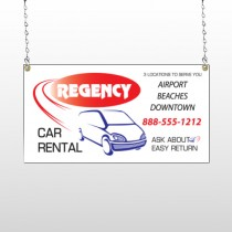 Rental Car 39 Window Sign