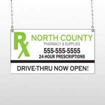 RX North County 105 Window Sign