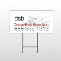 Builder 35 Wire Frame Sign