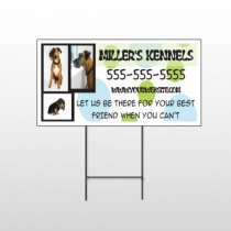 Dog Kennels 300 Wire Frame Sign